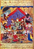 Timur (from the Perso-Arabic Tīmur, ultimately from Chagatai (Middle Turkic) Temur 'iron'; 8 April 1336 – 18 February 1405), often known as Tamerlane (from Tīmur-e Lang) in English, was a fourteenth-century conqueror of Western, South and Central Asia, founder of the Timurid Empire and Timurid dynasty (1370–1405) in Central Asia, and great great grandfather of Babur, the founder of the Mughal Dynasty, which survived until 1857 as the Mughal Empire in India.